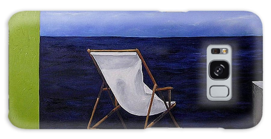 Seascape Galaxy Case featuring the painting Lazy Days by Trisha Lambi