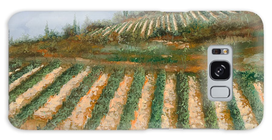Vineyard Galaxy Case featuring the painting Le Case Nella Vigna by Guido Borelli