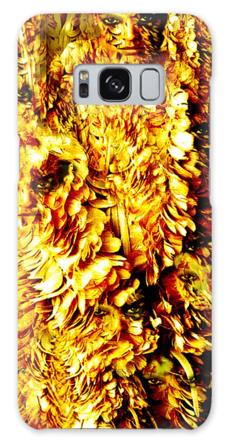 Feathers Galaxy Case featuring the digital art Le Flock by Seth Weaver