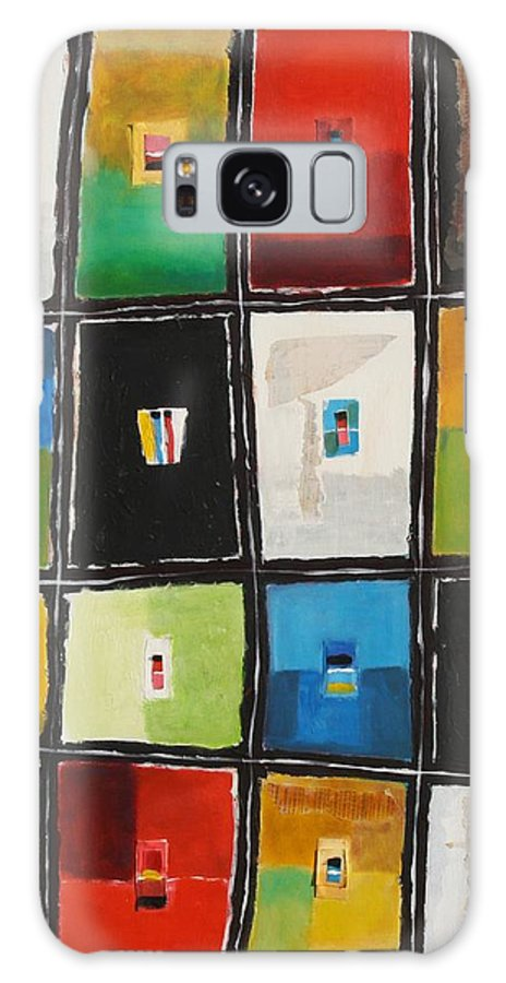 Abstract Galaxy S8 Case featuring the painting Le Language Des Couleurs by Habib Ayat