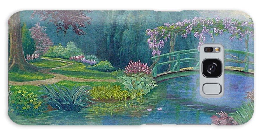 Landscape Galaxy S8 Case featuring the painting Le Pont Japonais by Tan Nguyen
