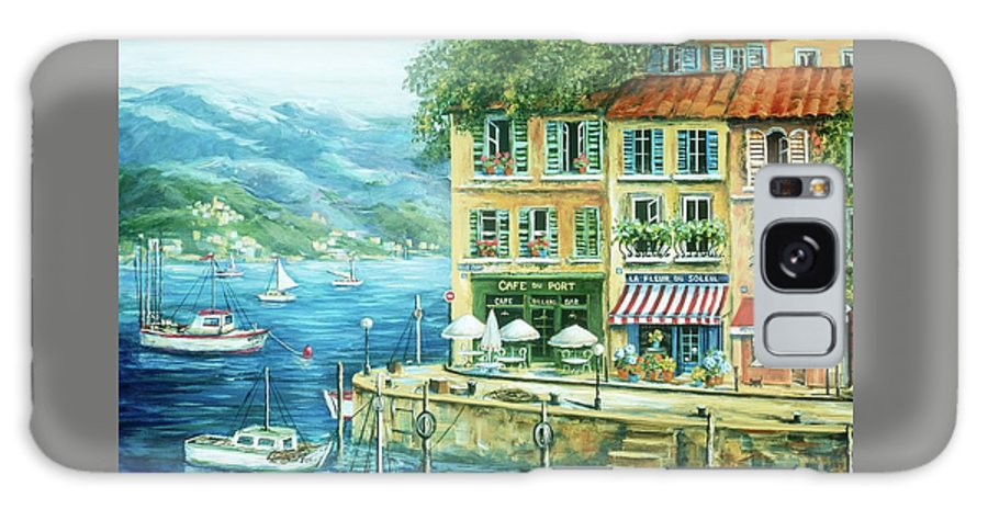 Europe Galaxy S8 Case featuring the painting Le Port by Marilyn Dunlap