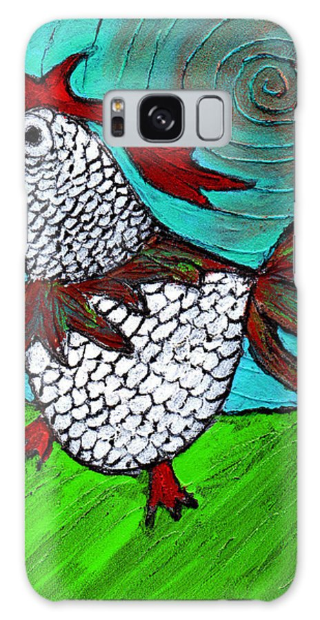 Rooster Galaxy Case featuring the painting Leader Of The Pack by Wayne Potrafka
