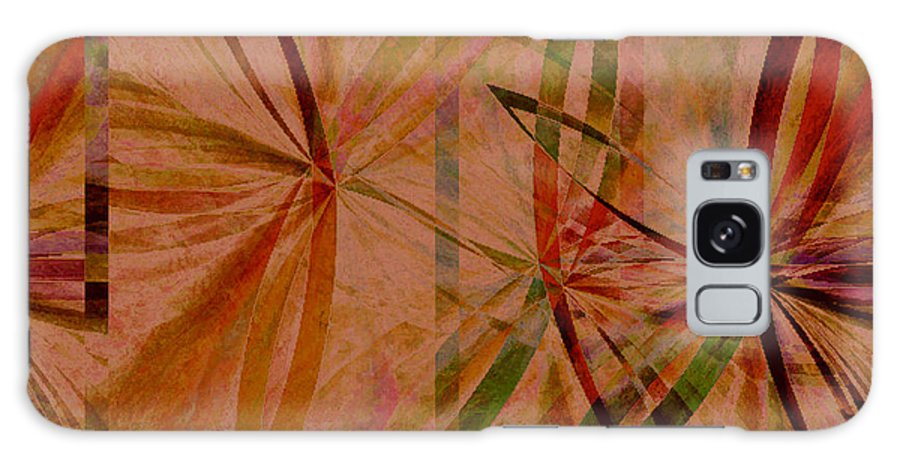 Abstract Galaxy Case featuring the digital art Leaf Dance by Ruth Palmer