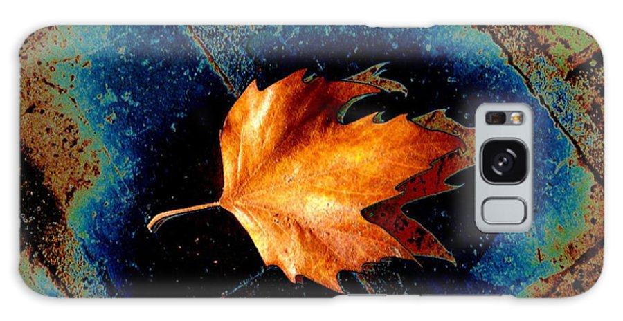 Leaf Galaxy S8 Case featuring the photograph Leaf On Bricks 5 by Tim Allen
