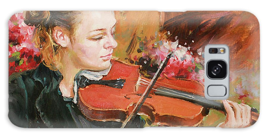 Violin Galaxy S8 Case featuring the painting Learning The Violin by Conor McGuire
