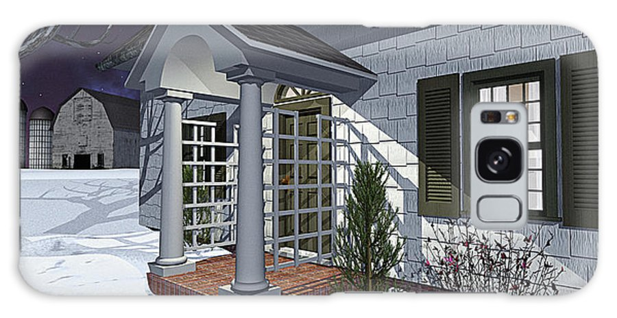 Porch Galaxy Case featuring the photograph Leave The Porch Light On by Peter J Sucy