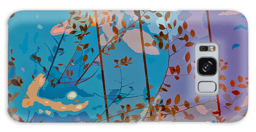Leaves Galaxy S8 Case featuring the painting Leaves And Wire by Stephen Anderson