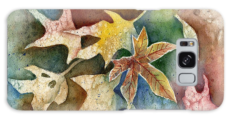 Leaf Galaxy Case featuring the painting Leaves Of Autumn by Arline Wagner