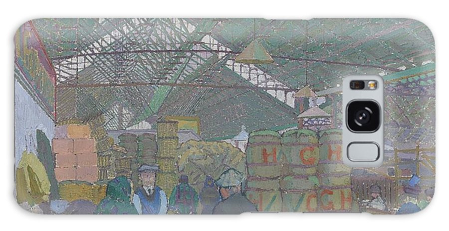 Leeds Market Galaxy S8 Case featuring the painting Leeds Market by Celestial Images