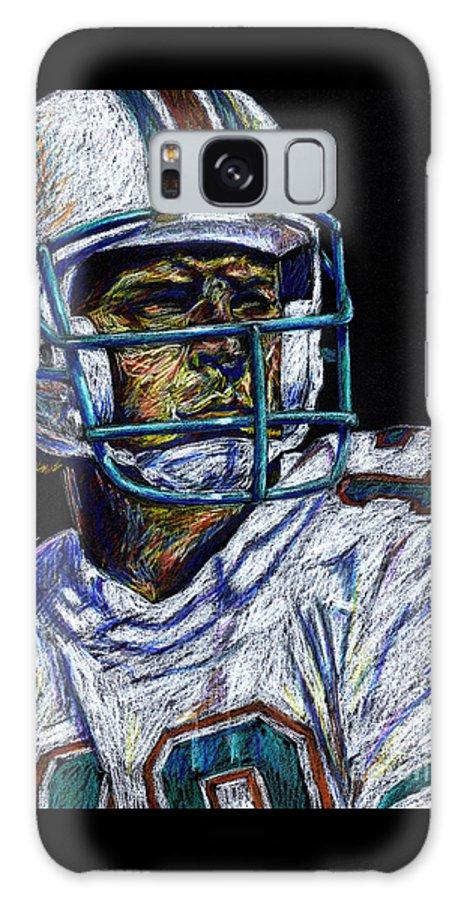 Dan Marino Galaxy S8 Case featuring the drawing Legend by Maria Arango