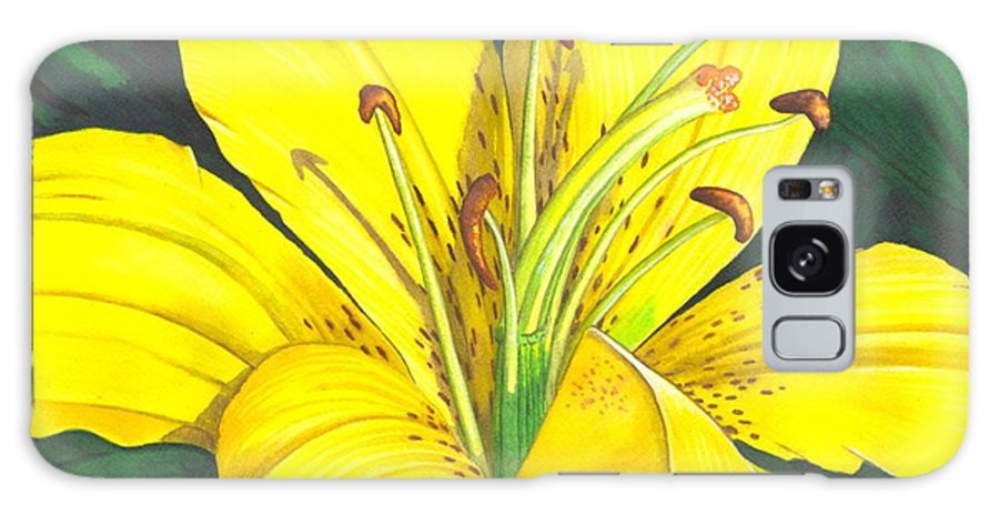 Lily Galaxy S8 Case featuring the painting Lemon Lily by Catherine G McElroy