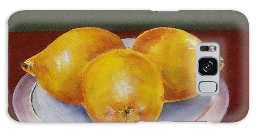 Lemon Galaxy Case featuring the painting Lemons by Jeanie Watson