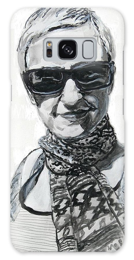 Lena Noble Galaxy S8 Case featuring the drawing Lena Noble, Portrait by Sviatoslav Alexakhin