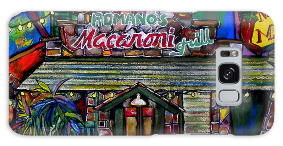 Romano's Macaroni Grill Galaxy S8 Case featuring the painting Leon Springs by Patti Schermerhorn