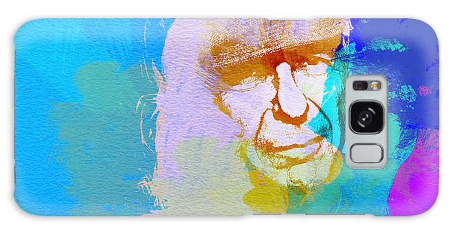 Leonard Cohen Galaxy S8 Case featuring the painting Leonard Cohen by Naxart Studio