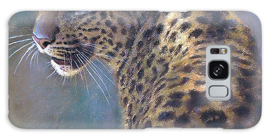 Cats Galaxy S8 Case featuring the pastel Leopard by Iliyan Bozhanov