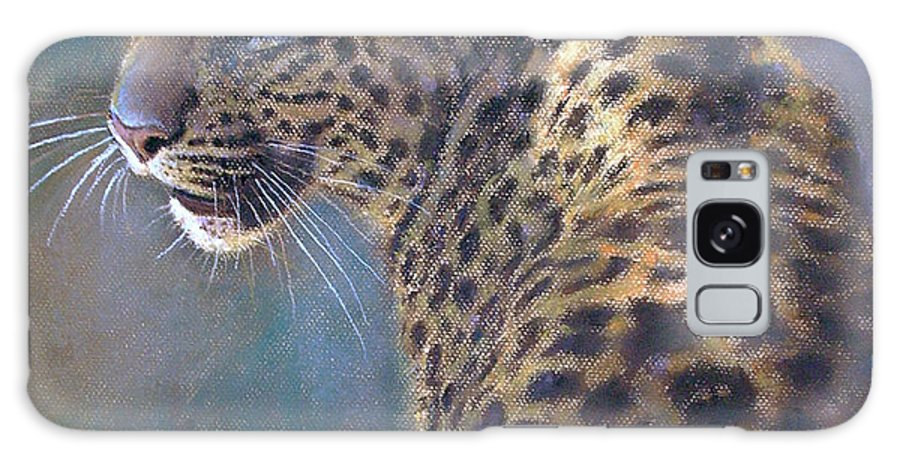 Cats Galaxy Case featuring the painting Leopard by Iliyan Bozhanov