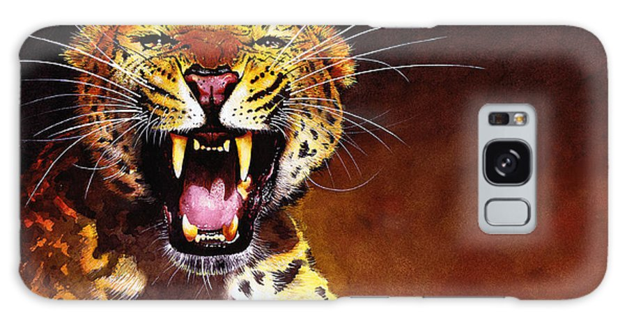 Leopard Galaxy S8 Case featuring the painting Leopard by Paul Dene Marlor