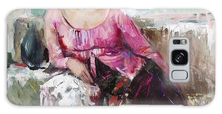 Ignatenko Galaxy S8 Case featuring the painting Lera by Sergey Ignatenko