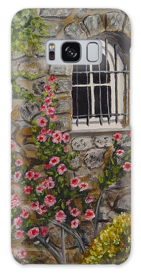 Window Galaxy S8 Case featuring the painting Les Arcs Sur Argens by Quwatha Valentine