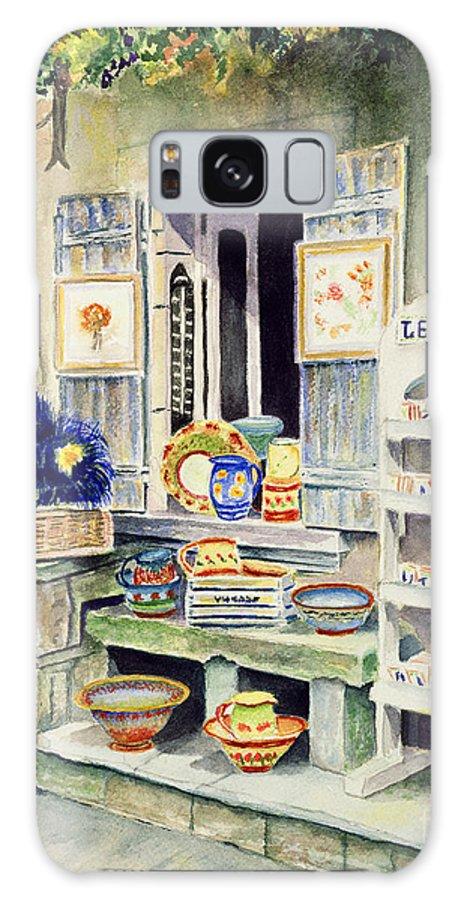 Les Baux Galaxy S8 Case featuring the painting Les Baux by Karen Fleschler