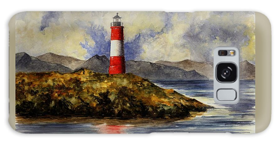 Lighthouse Galaxy S8 Case featuring the painting Les Eclaireurs Lighthouse by Michael Vigliotti