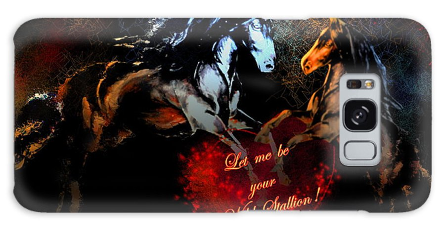 Love Galaxy Case featuring the painting Let Me Be Your Wild Stallion by Miki De Goodaboom
