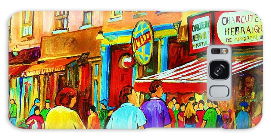 Cityscape Galaxy S8 Case featuring the painting Lets Meet For Lunch by Carole Spandau