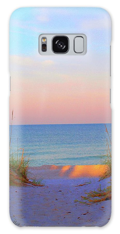 Beach Galaxy S8 Case featuring the photograph Let's Walk by Judy Waller