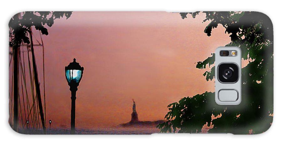 Seascape Galaxy Case featuring the digital art Liberty Fading seascape by Steve Karol