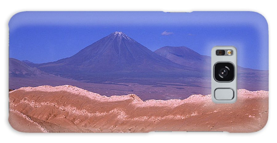 Chile Galaxy S8 Case featuring the photograph Licancabur Volcano Seen From The Atacama Desert Chile by James Brunker