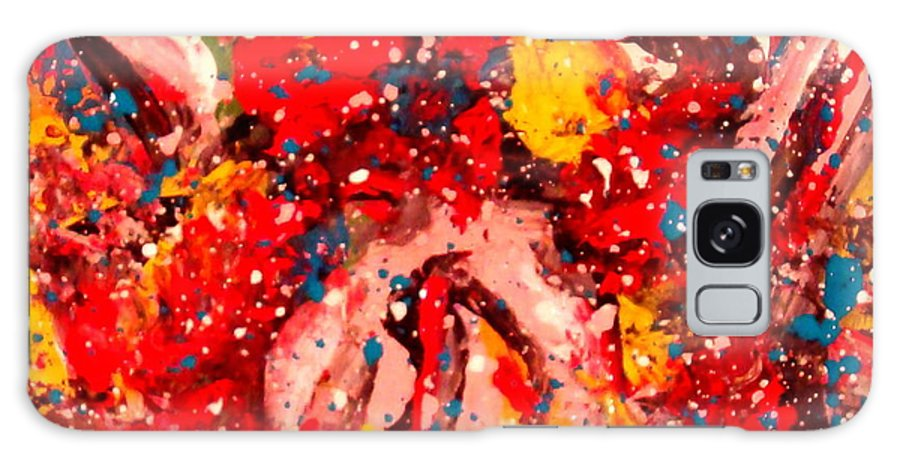 Abstract Galaxy S8 Case featuring the painting Life Force by Natalie Holland