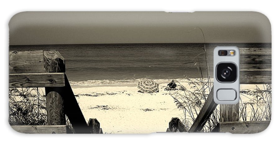 Beach Scene Galaxy S8 Case featuring the photograph Life Is A Beach by Susanne Van Hulst
