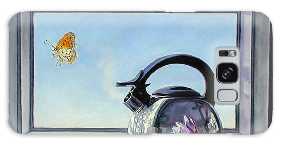Steam Coming Out Of A Kettle Galaxy Case featuring the painting Life Is A Vapor by John Lautermilch
