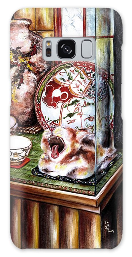 Cat Galaxy S8 Case featuring the painting Life Is Beautiful by Hiroko Sakai