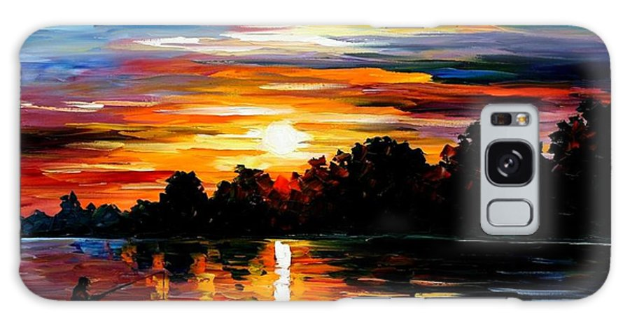 Afremov Galaxy S8 Case featuring the painting Life Memories by Leonid Afremov