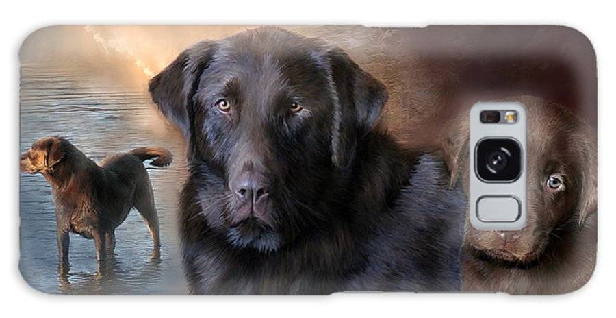 Labrador Retriever Galaxy S8 Case featuring the mixed media Life Of A Lab by Carol Cavalaris