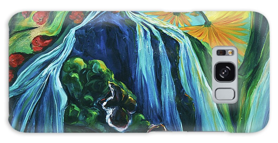 Floral Galaxy S8 Case featuring the painting Light Dawns On A Floating World by Jennifer Christenson
