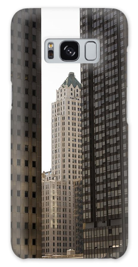 Chicago City Wind Windy Jungle Urban Metro Building Tall High Windows Skyscraper Sky Galaxy S8 Case featuring the photograph Light In The End by Andrei Shliakhau