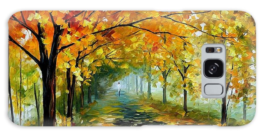 Afremov Galaxy S8 Case featuring the painting Light In The Fog by Leonid Afremov