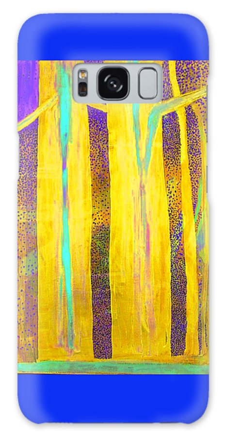 Galaxy S8 Case featuring the painting Light In The Forest by Jarle Rosseland