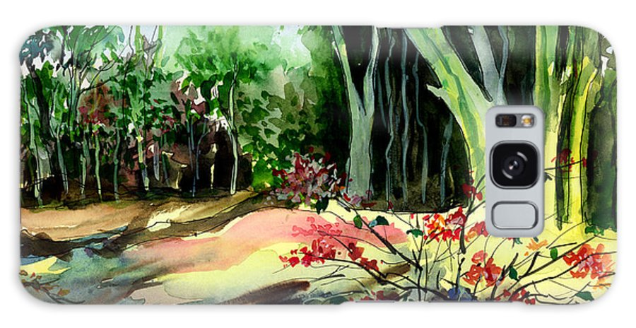 Watercolor Galaxy S8 Case featuring the painting Light In The Woods by Anil Nene