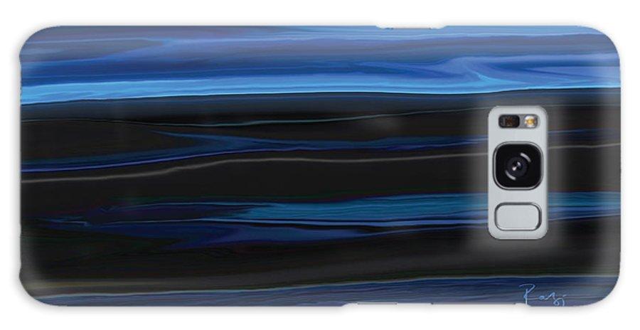 Black Galaxy Case featuring the digital art Light On The Horizon by Rabi Khan