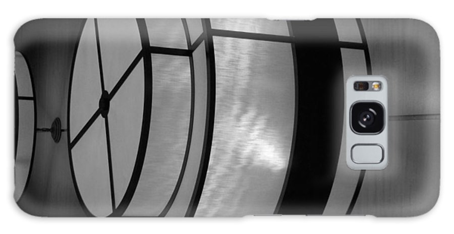 Black And White Galaxy S8 Case featuring the photograph Lighted Wall In Black And White by Rob Hans