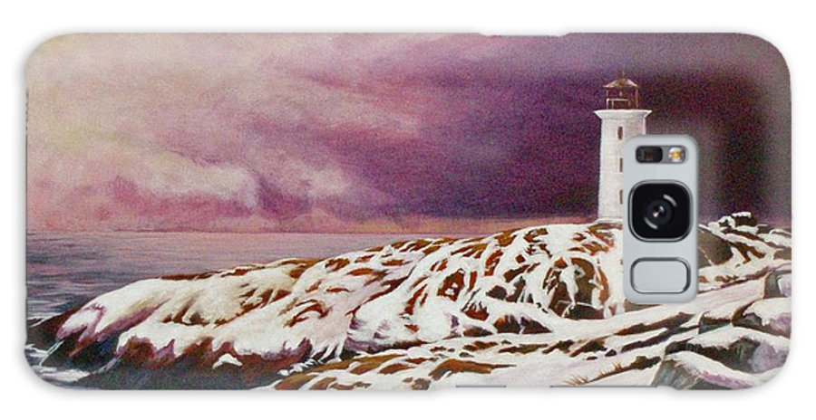 Lighthouse Galaxy Case featuring the painting Lighthouse by Craig Johnstone