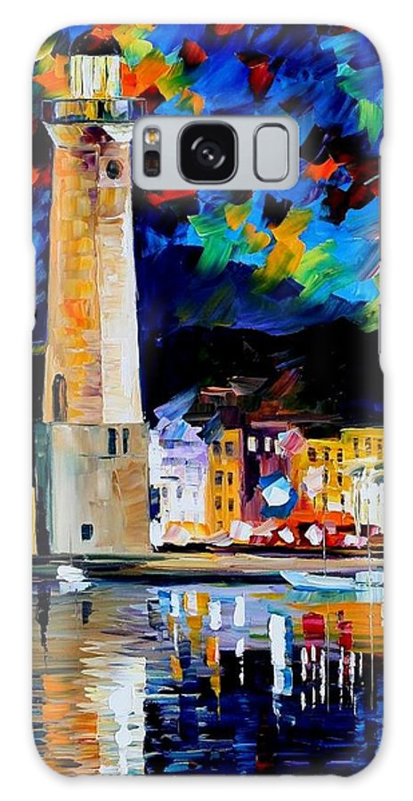 Afremov Galaxy S8 Case featuring the painting Lighthouse In Crete by Leonid Afremov