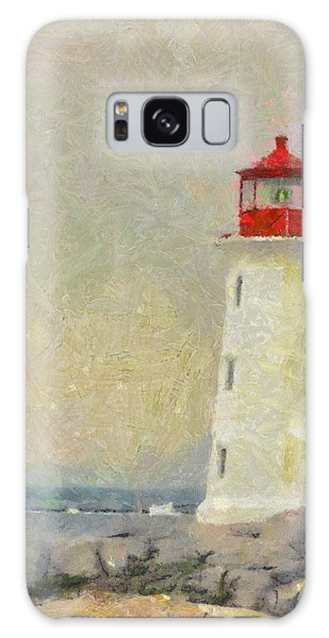 Canadian Galaxy S8 Case featuring the painting Lighthouse by Jeffrey Kolker