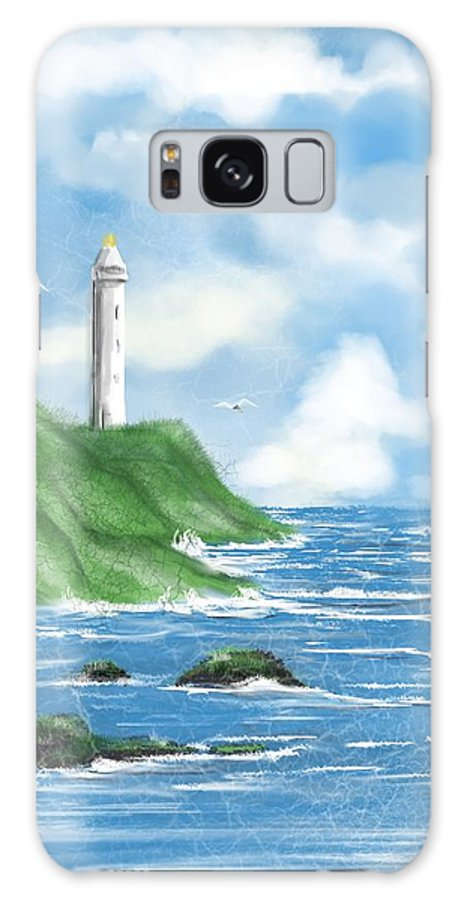 Lighthouse Galaxy S8 Case featuring the digital art Lighthouse by Kathleen Hromada