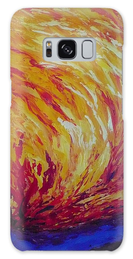 Fire Galaxy S8 Case featuring the painting Lighting A Match by Ericka Herazo